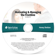 Motivating and Managing the Frontline webinar with Honey Shelton