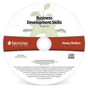 Business Development Skills webinar on CD-ROM with Honey Shelton