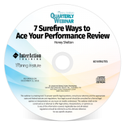7 Surefire Steps to Ace Your Performance Review Training Institute Quarterly Webinar CDROM