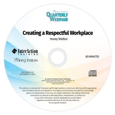 Creating a Respectful Workplace CD-ROM