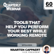 Tools That Help You Perform Your Best While Working Remote Live Webinar